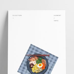 餐飲美食廣告之手繪美味食物主題