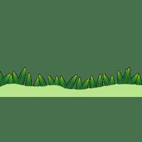 手绘矢量绿色植物