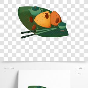 餐飲廣告之中華傳統美食粽子設計