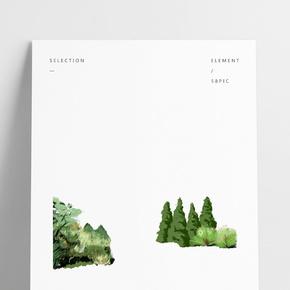 綠色植物手繪下載