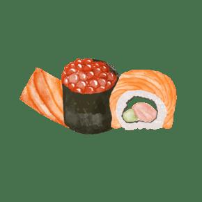 夏季夏天暑期暑假生鱼片鱼籽寿司