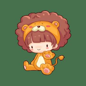十二星座狮子座插画