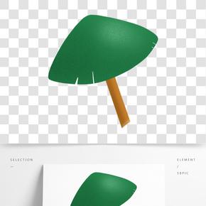綠色的大樹手繪設計圖