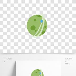 手繪綠色星球下載