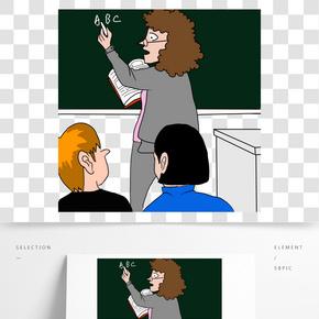 數學老師數字運算聽課學生課桌