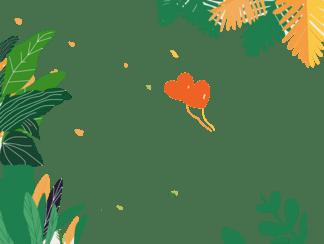 <i>七</i><i>夕</i>节爱心气球绿色植物手绘插画矢量背景