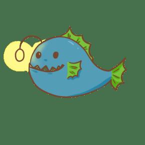可爱海洋动物琵琶鱼插画