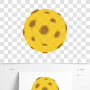 黃色的宇宙星球手繪設計圖