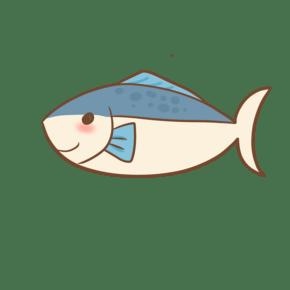 可爱海洋动物蓝背鱼插画