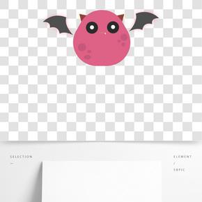 情人節糖果色可愛平面設計小怪獸PNG免摳