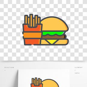 矢量畫漢堡包