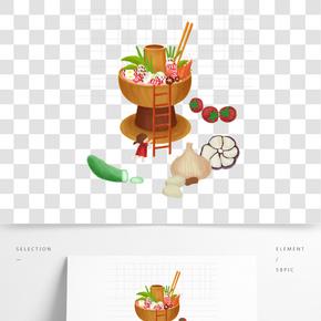 傳統美食廣告之火鍋插畫