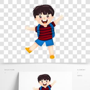 卡通人物男孩兒童幼兒小學生插畫手繪