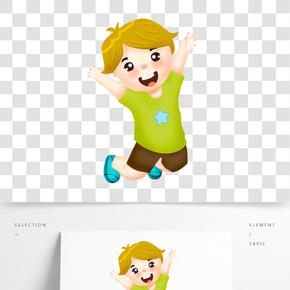 教師節開學季兒童節卡通人物小孩學生插畫手繪