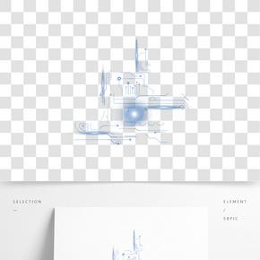 互聯網科技數據光效邊框