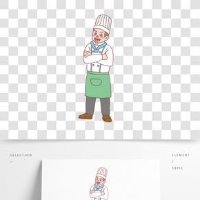 美食餐飲廚師手繪卡通人物07