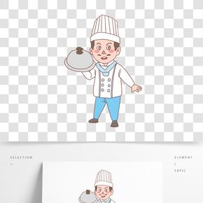 美食餐飲廚師手繪卡通人物08