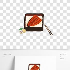 24節氣白露主題食物飯菜手繪插畫