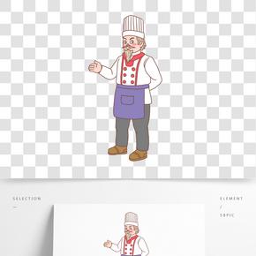 美食餐飲廚師手繪卡通人物09