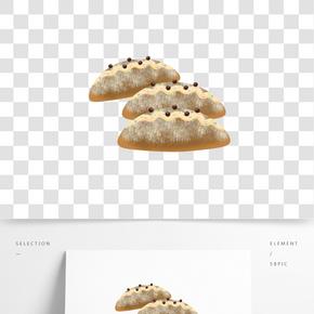 美味烘焙紅豆面包插畫