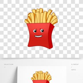 美食主題炸薯條手繪插畫