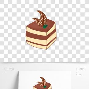 提拉米蘇蛋糕手繪插畫