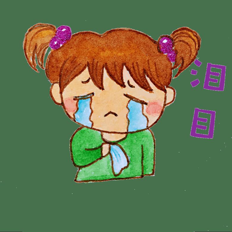 可爱表情插画大哭女孩模板免费下载_psd格的qq表情当头像包能图片