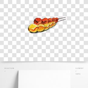 美味面包手繪插畫