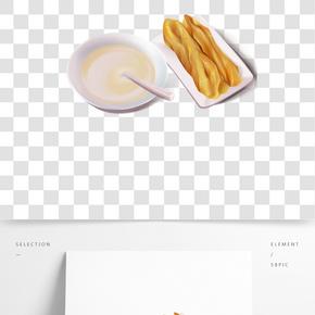 傳統美食營養早餐豆漿油條