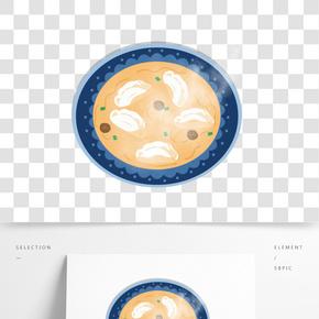 手繪卡通冬至過年傳統中華美食餃子夜宵