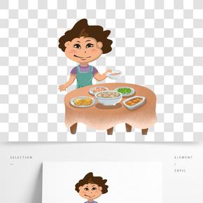媽媽做的一桌子菜