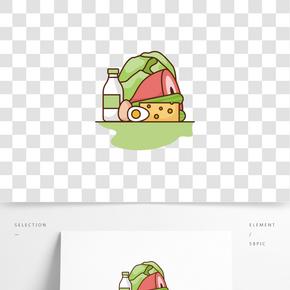 矢量漢堡餐卡
