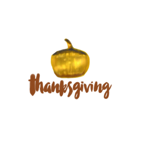感恩节南瓜灯艺术字体PNG图片