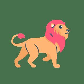 矢量简约手绘狮子