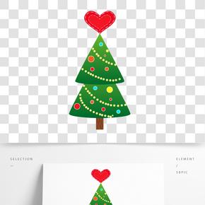 圣誕節圣誕樹圣誕元素插畫PNG