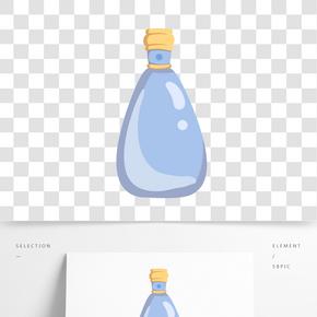 手繪藍色洗發露插畫