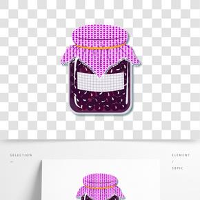 矢量手繪卡通玻璃罐糖果