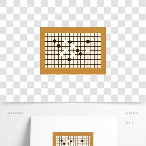 手繪中國風圍棋插畫
