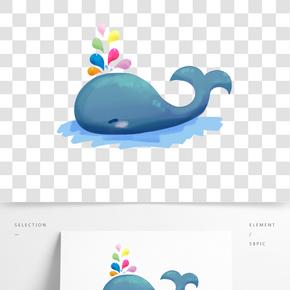 方頭方腦噴水鯨魚圖片