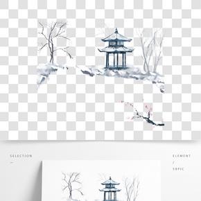 手繪二十四節氣冬季大雪免費下載