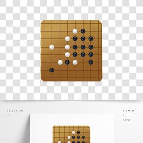 手繪黑白圍棋插畫