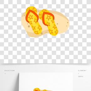 手繪旅游沙灘鞋插畫