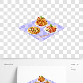 矢量手繪卡通食物