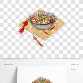 傳統美食拉面主題插畫