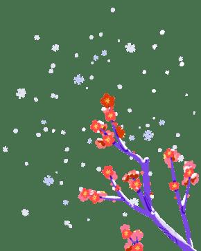 2019新年红梅素材
