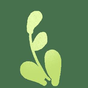 ?#24674;?#26592;檬绿卡通手绘植物