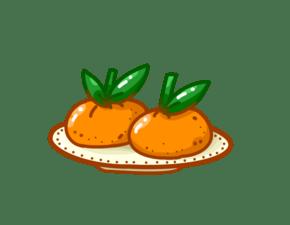 手绘新鲜橙子插画