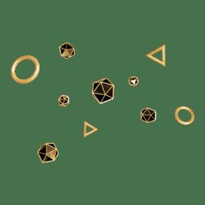 C4D金属风黑金色电商悬浮装饰