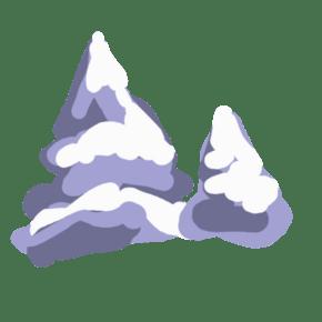 卡通淡紫色的雪免费下载