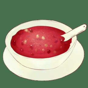 一碗红豆莲子羹插画